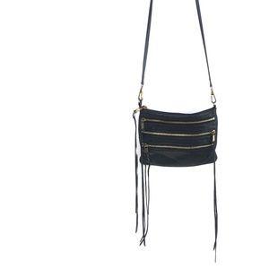 REBECCA MINKOFF 3 Zip Rocker Bag Black #801